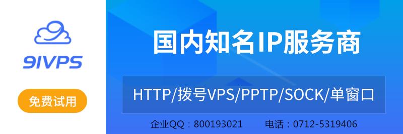 91vps国内动态ip知名服务商